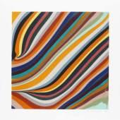 Ian Davenport /  Colour Explosion /  Ian Davenport, 3am 2019 Radierung / 62 x 62 cm / Unikat