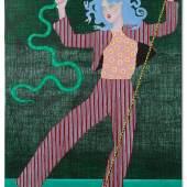 """Kiki Kogelnik """"Superserpent"""", 1974, Öl und Acryl auf Leinwand, 195 x 150 cm Bild: Kunsthandel Giese & Schweiger"""