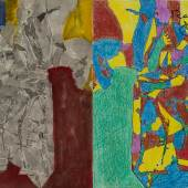 Jasper Johns, Studie zu Regrets, 2012 Acryl, Fotokopiecollage, Buntstift, Tinte und Aquarell auf Papier 28,9 x 45,1 cm © Jasper Johns/ © Bildrecht, Wien, 2014 Foto: © Jerry Thompson