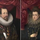 Flämischer Meister 'Herzog Vincenzo I. Gonzaga von Mantua und seine Gemahlin Eleonora de´ Medici (Lot. 40)
