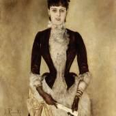ANTON ROMAKO, Bildnis Isabella Reisser, 1885 © Leopold Museum, Wien