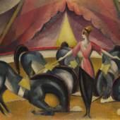 120 WLADIMIR GEORGIEWITSCH VON BECHTEJEFF Zirkusszene, 1910. Öl Schätzung: € 180.000 Ergebnis: € 299.720