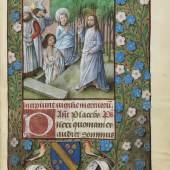 Lot: 6   Stundenbuch, Flandern 1500  Stundenbuch auf Pergament. Flandern um 1500.  Schätzpreis: 250.000 EUR / 327.500 $
