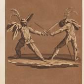 Lot: 81   Hoffmann, E. T. A..  Prinzessin Brambilla, 1821. Widmungsexemplar.  Schätzpreis: 2.000 EUR / 2.560 $