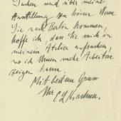 Lot: 668   Kirchner, E. L.  Autograph. 1914.  Schätzpreis: 300 EUR / 387 $. Erlös € 1.900*