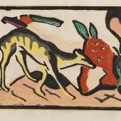 100 Wassily Kandinsky Marc: Almanach der Blaue Reiter., 1912. Schätzung: € 35.000 Ergebnis: € 36.000