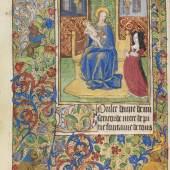 Nr. 3: Lateinisches und französisches Stundenbuch, Rouen um 1470 € 52.000* Aufruf: € 7.000