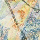 BERNARD SCHULTZE (1915- 2005), 'Innerer Monolog', Farbradierung (darüber handkoloriert) auf festem Papier. 42 x 30,5 cm Bildquelle: Hargesheimer Kunstauktionen Düsseldorf GmbH