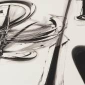 KARL OTTO GÖTZ (*1914), Entwurf für 'Tuba' II', Gou-ache auf Büttenpapier. 97,3 x 34,4 cm