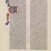Biblia latina – Fust-Schöffer-Bibel 2 Bände, 14. August 1462 Schätzpreis: € 1.000.000