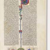 € 1.050.000* Aufruf: € 800.000 Nr. 011: Fust-Schöffer-Bibel, Mainz 1462