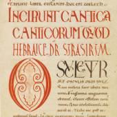 420000526 BIBLIA LATINA Biblia latina. Handschrift auf Pergament, 12. Jahrhundert Schätzpreis: € 20.000