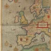 420000772 LUCAS JANSZOON WAGHENAER Speculum nauticum super navigatione maris, 2 Teile in 1 Band, 1586. Schätzpreis: € 180.000