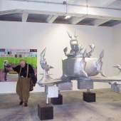 BRUNO GIRONCOLI Ohne Titel (Spitzen) 1997 - 2003 Aluminiumguss 250 x 330 x 250 cm