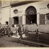 Neapel und der Süden  Giorgio Sommer, Makkaronifabrik, um 1875  © Bayerische Staatsgemäldesammlungen / Sammlung Siegert