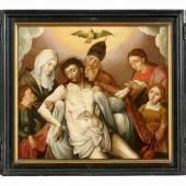 Bartholomäus Bruyn d.J. – Werkstatt Triptychon mit Kölner Stifterporträts Innenteil: 55 x 61,5cm | Flügel je 55 x 26cm  Öl auf Holz | Ergebnis: 38.400 Euro