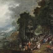 Johann Jakob Hartmann, Landschaft mit Festgesellschaft, undatiert  Foto: Johannes Stoll / Belvedere, Wien