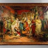 Ferdinand Leeke, Tannhäuser und der Sängerkrieg auf der Wartburg im Jahre 1889 erhielt der Künstler von Siegfried Wagner (1869-1930) den Auftrag, Gemälde nach Opern seines Vaters Richard Wagner (1913-1883) zu schaffen, Mindestpreis:800 EUR
