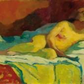 GIOVANNI GIACOMETTI La lettrice (Die Leserin). 1912. Öl auf Leinwand. 50 x 80 cm. CHF 250 000 / 350 000