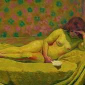 3051 GIOVANNI GIACOMETTI (Stampa 1868 – 1933 Glion) Theodora. 1914. Öl auf Leinwand. 125 x 200 cm. Ergebnis: CHF 538 000