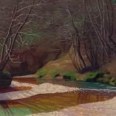 3058 FÉLIX VALLOTTON (Lausanne 1865 – 1925 Paris) Ruisseau rouille et galets blancs. 1921. Öl auf Leinwand. 60 x 73 cm. Ergebnis: CHF 360 500