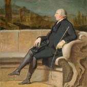 456 Johann Heinrich Wilhelm Tischbein  1751 Haina – 1829 Eutin  Frederick Hervey, Bishop of Derry and 4th Earl of Bristol (1730–1803), im Hintergrund das Grabmal der Mamia, Pompeji. März 1790 Öl auf Leinwand. 61,5 × 49 cm, Schätzpreis:20.000 - 25.000