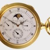 Savonette, International Watch Co. Schaffhausen, 750 GG, Ref. 5450, Nr. 230/250, mit Mondphase, Datum, Wochentag, Sekunde, netto ca. 200 g, ca. 282,0 g, leichte Gebrauchsspuren, Mindestpreis:12.000 EUR
