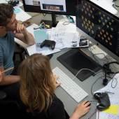 Vorbereitungen für das Game + Grafik Labor zur VIENNA DESIGN WEEK (c) buerobauer