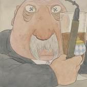 Der Zeichner Karl Arnold  Karl Arnold, Der Münchner, 1923, Feder in Schwarz, Aquarell, Deckweiß, 360x297 mm, Staatliche Graphische Sammlung München  © VG Bild-Kunst, Bonn 2012