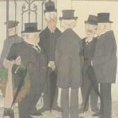 Der Zeichner Karl Arnold  Karl Arnold, Hinterbliebene, 1935, Bleistift, Feder in Schwarz, Aquarell, 362x302 mm, Privatbesitz  © VG Bild-Kunst, Bonn 2012