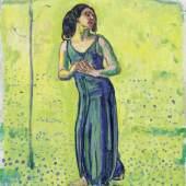 FERDINAND HODLER (Bern 1853–1918 Genf) Schreitende. Um 1910. Öl auf Leinwand. Unten rechts signiert: F. Hodler. 46,5 × 40 cm. Verkauft für CHF 339 400 (inkl. Aufgeld)