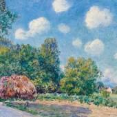 ALFRED SISLEY (Paris 1839 - 1899 Moret-sur-Loing) Autour de la forêt, juin. Um 1885. Öl auf Leinwand. Unten rechts signiert: Sisley. Verso auf dem Keilrahmen betitelt. 54 x 72,7 cm. Verkauft für CHF 800 000 (inkl. Aufgeld)