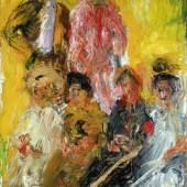 RICHARD GERSTL, Gruppenbild mit Schönberg, 1908 © Kunsthaus Zug, Stiftung Sammlung Kamm Foto: Kunsthaus Zug, Stiftung Sammlung Kamm