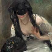 LOVIS CORINTH  Maske im weissen Kleid. 1902.  Öl auf Leinwand. 78,5 x 63,5 cm.  Schätzung: CHF 100 000/150 000  Ergebnis: CHF 190 000