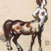 FRANZ VON STUCK  (Tettenweis 1863 - 1928 München) Kentauren. CHF 2 000 / 3 000  € 1 750 / 2 630