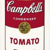 ANDY WARHOL Aus: Campbell's Soup I. 1968. Farbserigrafie. 138/250. 88,9 × 58,4 cm. Ergebnis: CHF 104 000