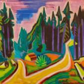 KARL SCHMIDT-ROTTLUFF Spessarttannen. 1950. Öl auf Leinwand. 76 x 90 cm. Ergebnis: CHF 452 000