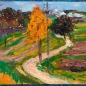 ALEXEJ VON JAWLENSKY Herbst I. 1904. Öl auf Karton. 27,4 × 44,5 cm. Ergebnis: CHF 128 000