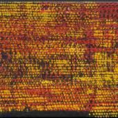 OTTO PIENE Rasterbild 2. 1957. Öl auf Leinwand. 50 × 70 cm. Ergebnis: CHF 256 000