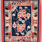 "Tibet Rug 66 x 56 cm (2' 2"" x 1' 10"") Tibet, early 20th century"