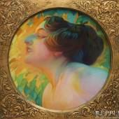 HABERMANN, HUGO VON (1849-1929) ATTR.: Porträt einer Dame. Aufrufpreis: 1.200,00 €