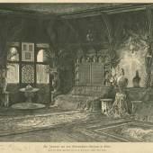 """Johann Josef Kirchner: """"Ein Interieur aus dem Orientalischen Museum"""", Druck nach Zeichnung, 1883. Quelle: Neue illustrirte Zeitung, 1.4.1883, 420."""