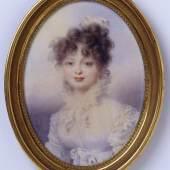 Großfürstin Katharina Pawlowna, spätere Königin Katharina von Württemberg (1788- 1819) Aquarell auf Elfenbein Wien, 1815 © Zwietasch, Landesmuseum Württemberg, Stuttgart.