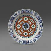 Turkey, circa 1580 A.D., An Iznik polychrome pottery cintamani dish, Forge and Lynch Ltd.
