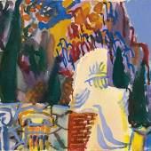 Samuel Buri  Delphi, 1956  Aquarell auf Papier, 21 x 31 cm  Ref. 342