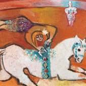 Charles Hindenlang Zirkusszene, 1958 Oel auf Leinwand 74 x 91 cm Ref. 3/RLH