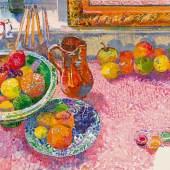 Samuel Buri  Stillleben mit Früchten, 1985  Aquarell auf Papier, 70 x 100 cm  Ref. U. 720