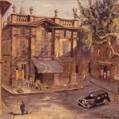 Ansicht eines Platzes in Avignon, 1959