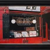 Rudolf Häsler  Bar in Harlem. New York, 1987  Acryl auf Holz, 68 x 102 cm  Ref. 1-2199
