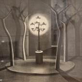 Niklaus Stoecklin  Place Furstembourg, Paris, 1921 33 x 41 cm LM  Ref. 1/DO